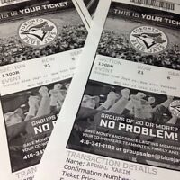 TBJ TICKETS; Yankees versus Your TORONTO BLUE JAYS