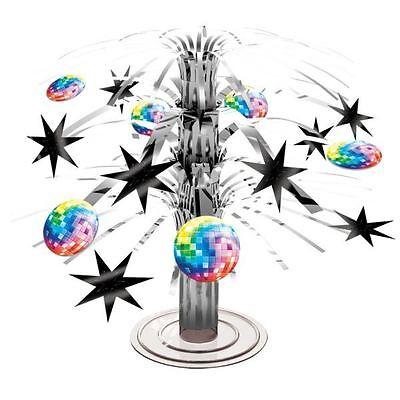 Mini Foil Cascade Table Centrepiece 70s Stars Disco Ball Party Decorations](Mini Disco Ball Decorations)