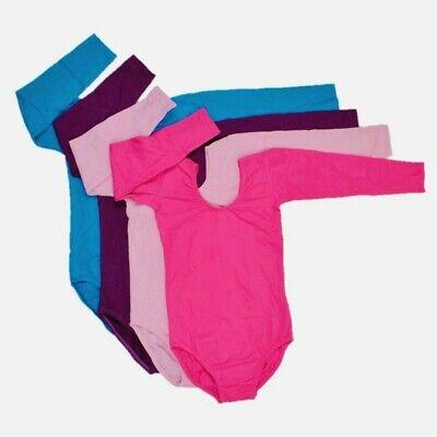 Kid Girl Long Sleeve Ballet Dance Dress Fitness Gymnastics Wear Leotard (Child Long Sleeve Leotard)