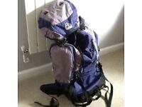 Eurohike backpack grey and blue