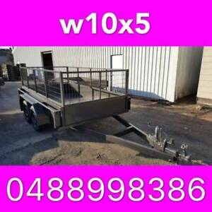 10x5 tandem box trailer with cage full checker plate aus made