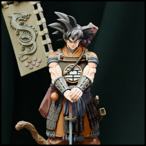 (W_3390) Dragon Ball Samurai Goku Unpainted Resin Figure Kit