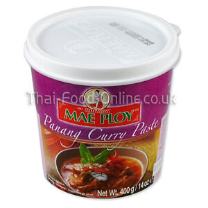 Authentic Thai Panang curry paste (400g) by Mae Ploy - UK Seller