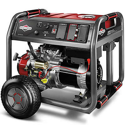 Briggs Stratton 30664 - 8000 Watt Electric Start Portable Generator W 4 ...