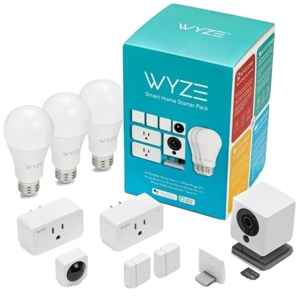 Wyze Smart Home Starter Pack BONUS 32GB SD Card Security Camera - Alexa / Google
