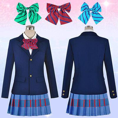 Mädchen Anime Love Live Kleid Schuluniform Jacke Mantel Cosplay Kostüm Fasching