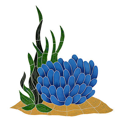 Anemone Reef Accent Ceramic Swimming Pool Mosaic