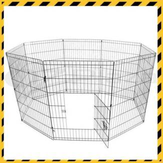 8 Panel Play pen For Dogs 60cm 75cm or 90cm Tall *NEW IN BOX