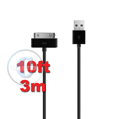 10ft 3m EXTRA LONG CHARGE SYNC TRANSFER  30-pin DOCK TO USB CABLE FOR APPLE iPOD Ipod Transfer Cable