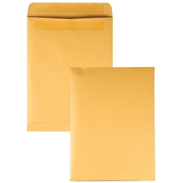 """Redi-Seal Envelope, Plain, 28Lb, 9""""x12"""", 250/BX, Kraft"""