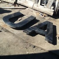 Plastic letters for outdoor sign