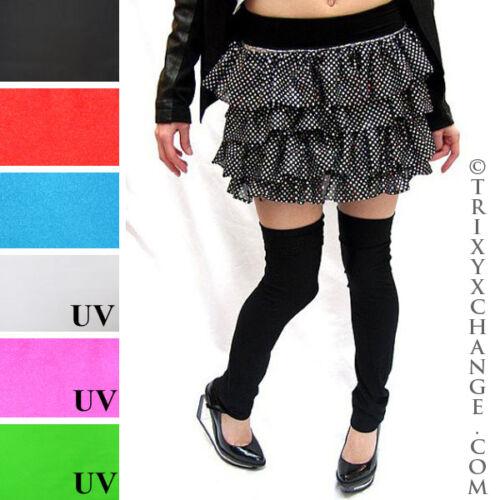 Shiny Leg Warmers Black Leggings Boot Covers Latex Cosplay Costume Covers Latex