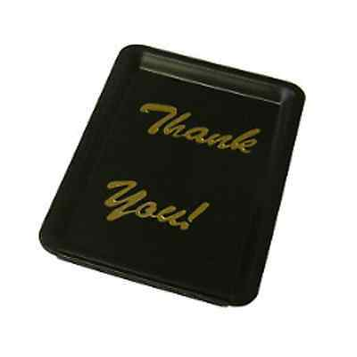 Black Plastic Thank You Tip Tray Bill Presenter