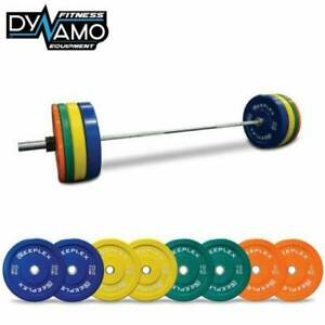 New 120kg Reeplex V2 Coloured Bumper & Barbell Package for Gyms
