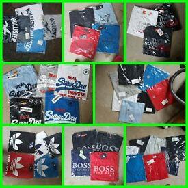 Job lot bulk men's t-shirts 10 for £50 only Armani Moncler Lacoste adidas super dry