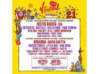 * V festival ticket - red camping *