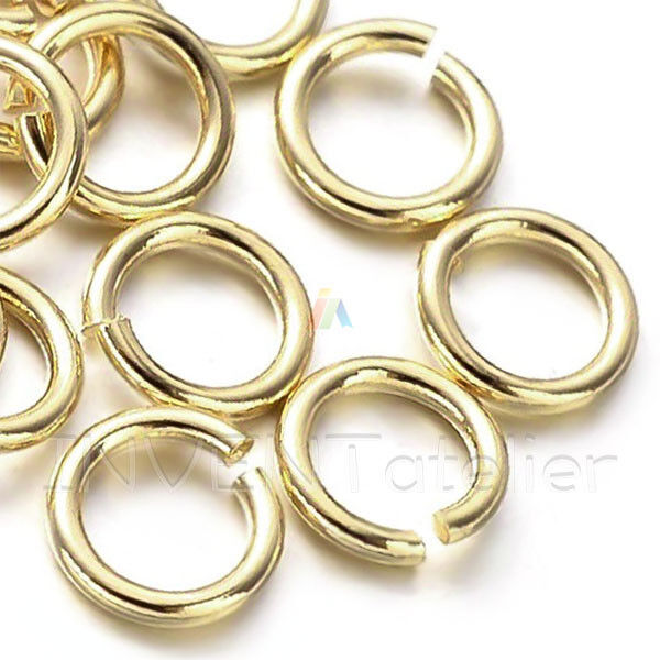 10 gms PALE ROSE GOLD Plated Metal Open Jump Rings 5mm diameter