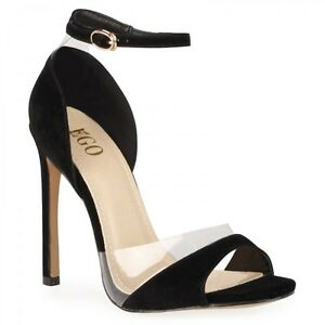 """Ego Single Strap Open Toe Heels in Black. Heel Height: 5"""", Shoe H Southport Gold Coast City Preview"""
