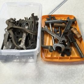 Selection of vintage spanners