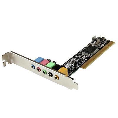 StarTech PCISOUND5CH2 5.1 CH PCI Surround Sound Card Adapter 8738LX +Low Profile