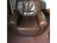 6 years old in good clean condition, 1 chair is a recliner, settee rarely used. Buyer collects