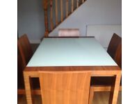 Dwell extending dining table and 6 chairs