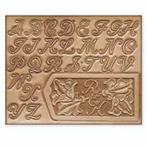 """Craftaid Plastic 1"""" Alphabet Template 72283-00 by Tandy Leather"""