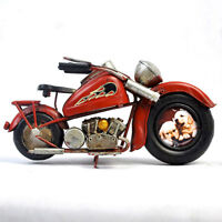 Hand-Made Vintage Motorcycle Model