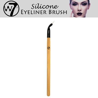W7 Cosmetics Silicon Gel Eyeliner Brush Makeup Clear Precise Salon Look
