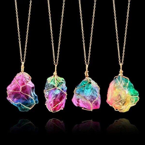 Jewellery - Women Pendant Chain Crystal Choker Chunky Statement Bib Necklace Fashion Jewelry