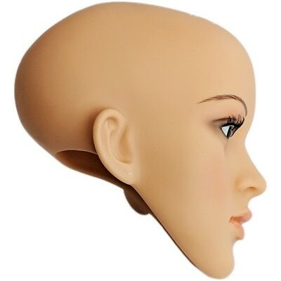 Mn-sh Plastic Female Realistic Head Attachment For Mannequins Has Pierced Ears