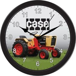 Case Wall Clock Large Black Garden Farm Tractor Sign Image Picture Gift Art Part