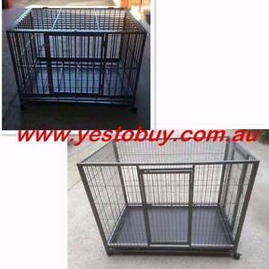 Large Metal Tube Pet Puppy Dog Cat Cage Crate with Tray Castor Mordialloc Kingston Area Preview