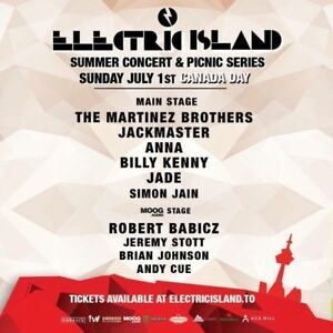 Electric Island Hard Copy Tickets July 1st Hard Copy Tickets