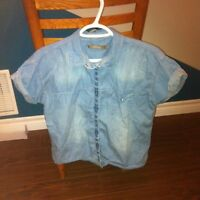 Button Up Jean T-Shirt By Melissa