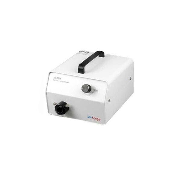 AmScope 150W High-Power Halogen Fiber-Optic Microscope Illuminator