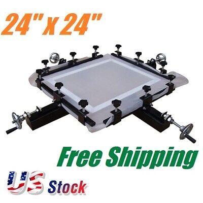 High Precise 24x 24 Manual Screen Stretching Machine Screen Printing Stretcher