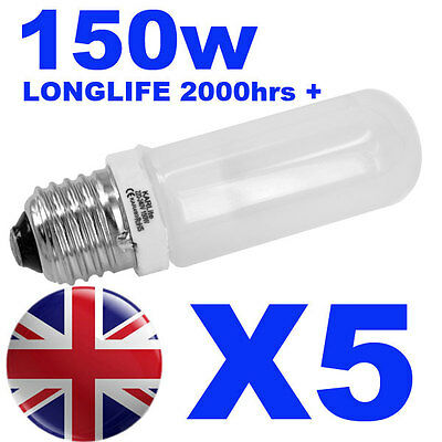 5x Halogen Long Life Modelling Bulb / Lamp / Light 150w for Bowens / Elinchrom