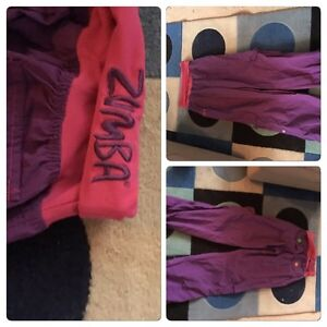 Zumba pants, Roots, BCBG, Le Chateau, Wind River, Pink, Ed Hardy