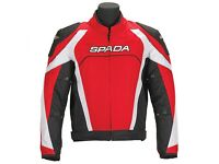 Brand new with tags Spada Legacy Motorcycle Jacket Red Black White Small RRP £114