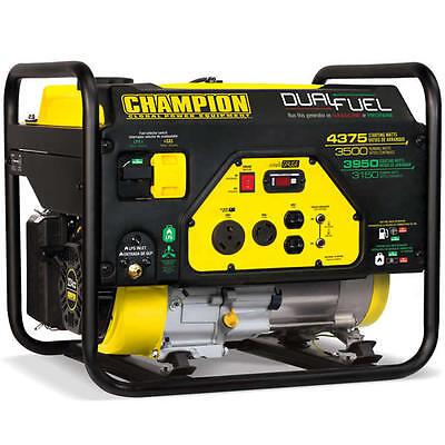 Champion 100307 - 3500 Watt Dual Fuel Portable Generator W Rv Outlet