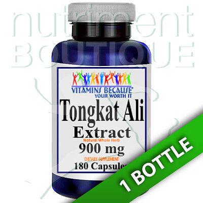 - Tongkat Ali Extract 900mg 180 Capsules (Eurycoma Longifolia) Root Extract 100:1