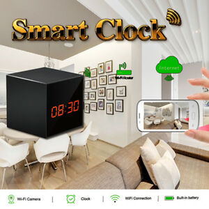 Table Wi-Fi Night Vision Clock Hidden Camera, Baby Sitter Camera