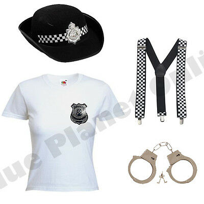 LADIES WPC POLICE WOMAN LADY COP WOMEN FANCY DRESS COSTUME WOMEN HEN PARTY