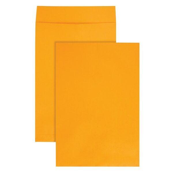 """Jumbo Envelopes, Plain, 28Lb, 12-1/2""""x18-1/2"""", 25/PK, Kraft"""