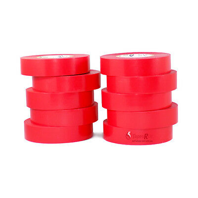 Tapessupply 10 Rolls Red Electrical Tape 34 X 66 Ft