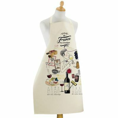 Castle French Wine - Apron French Wine Tasting (Wine labels, Castle, Grapes etc.) Cotton - France