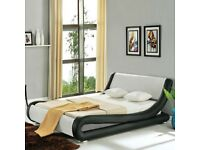 Volo Italian Leather Bed (King size) with Spring Mattress