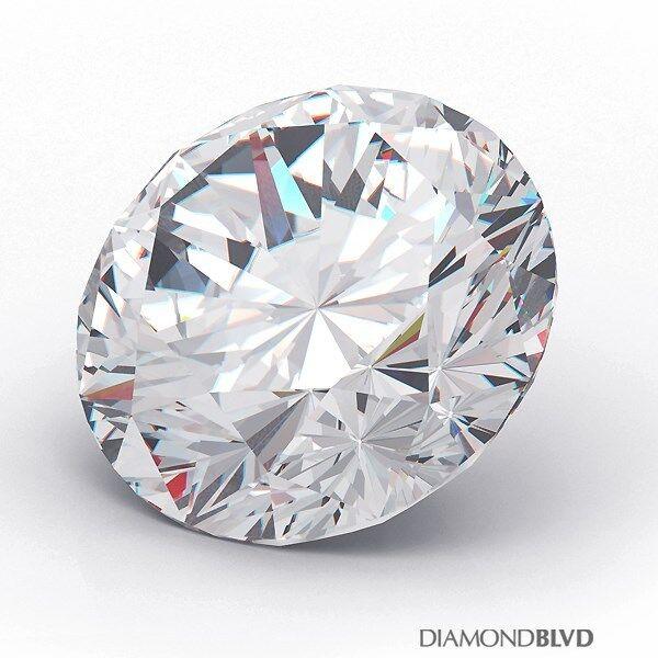 1.05 Carat E/VS2/Ex Cut Round Brilliant AGI Earth Mined Diamond 6.43x6.52x4.03mm