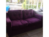 Lovely purple double sofa bed